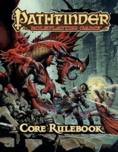 Pathfinder Core Rulebook, a popular variation of the classic D&D rules.